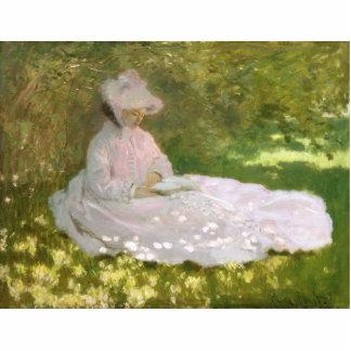 Frühjahr durch Claude Monet Fotoskulptur Button