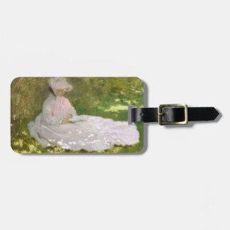 Frühjahr durch Claude Monet Gepäckanhänger