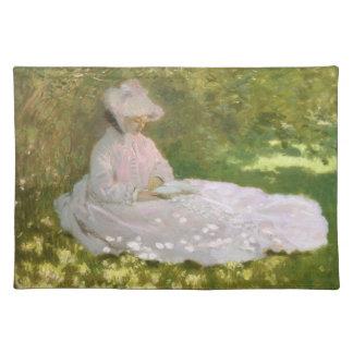 Frühjahr durch Claude Monet Stofftischset
