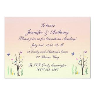 Frühjahr-Hochzeits-Brunch 12,7 X 17,8 Cm Einladungskarte