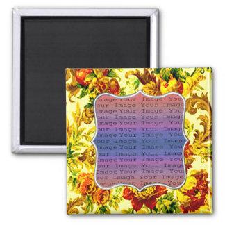 Frühjahr-Hochzeits-Magnet Quadratischer Magnet