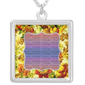 Frühjahr-Hochzeits-Silber-Halskette Halskette Mit Quadratischem Anhänger