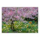 Frühjahr in Claude Monets Garten Karte