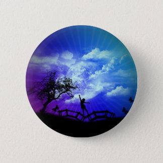 Frühjahr-Kunst-Entwurfs-Knopf Runder Button 5,7 Cm