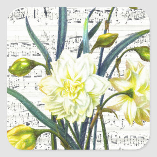 Frühjahr-Lied Quadratischer Aufkleber