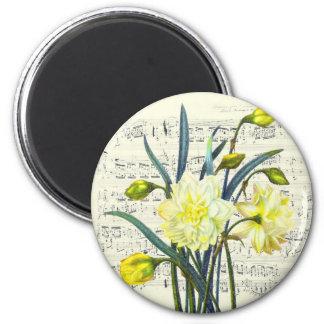 Frühjahr-Lied Runder Magnet 5,7 Cm