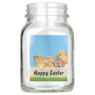 Frühjahr-Ostern-Küken Einmachglas