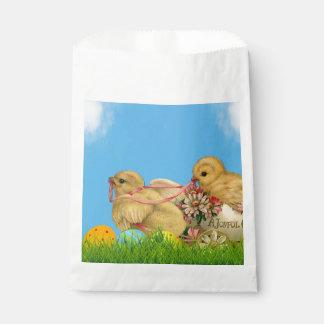 Frühjahr-Ostern-Küken Geschenktütchen