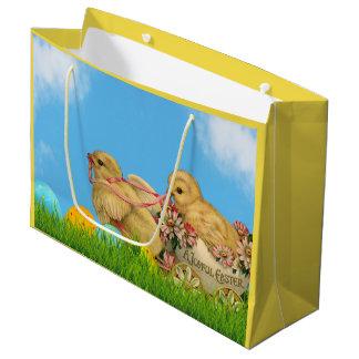 Frühjahr-Ostern-Küken Große Geschenktüte