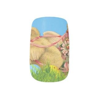 Frühjahr-Ostern-Küken Minx Nagelkunst