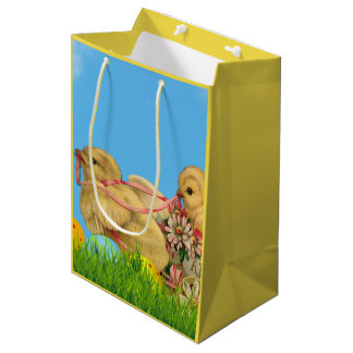Frühjahr-Ostern-Küken Mittlere Geschenktüte