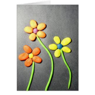 Frühjahr Playdough Blumen Karte