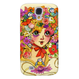 FrühjahrReverie Retro Shoujo Japan Blumen-Mädchen Galaxy S4 Hülle