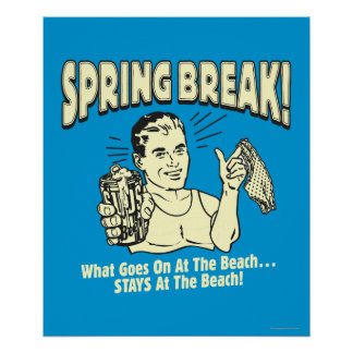Frühjahrsferien: Aufenthalte am Strand Plakat