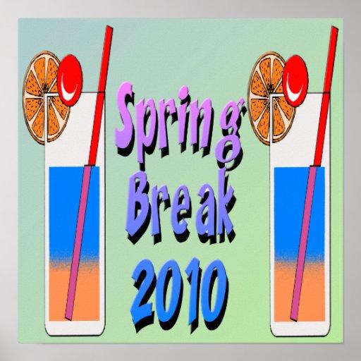 Frühjahrsferien-Cocktail-Plakat 2010