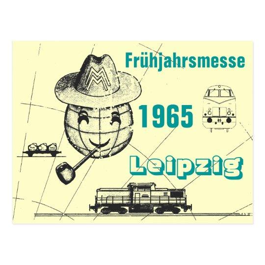 Frühjahrsmesse 1965 Leipzig Werbedesign DDR Postkarte