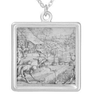 Frühling, 1565 versilberte kette