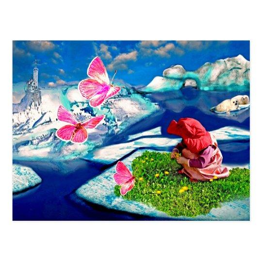 Frühling am Nordpol Postkarte