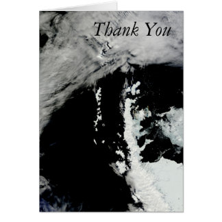 Frühling auf der antarktischen Halbinsel danken Karte