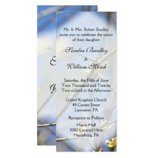 Frühling blüht Hochzeits-Einladung 10,2 X 23,5 Cm Einladungskarte