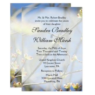 Frühling blüht Hochzeits-Einladung 11,4 X 15,9 Cm Einladungskarte