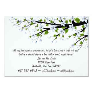 Frühling blüht neue Adressen-Mitteilung 12,7 X 17,8 Cm Einladungskarte
