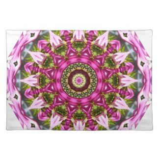 Frühling blüht, zackt, Blume-Mandala, Natur aus Tischset