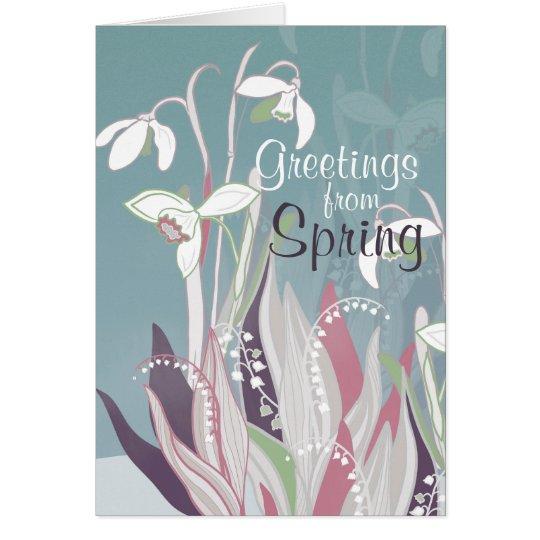 Frühling Blumen Kunst englisch Karte