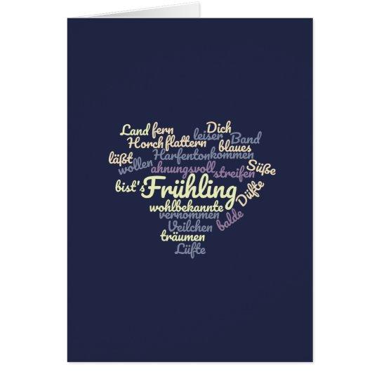 Frühling - Gedicht als Wordcloud Karte