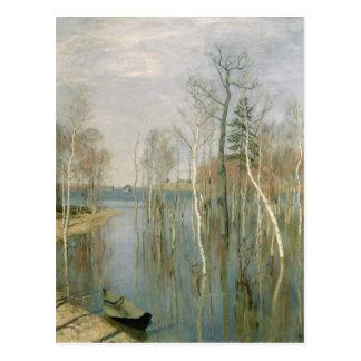 Frühling, Hochwasser, 1897 Postkarte