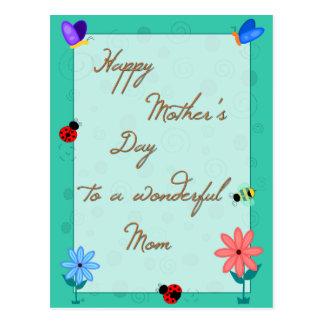 Frühling ist hier! Muttertag Postkarte