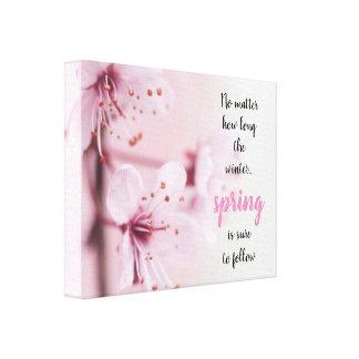 Frühling Kirschblütes //ist sicher zu folgen Leinwanddruck
