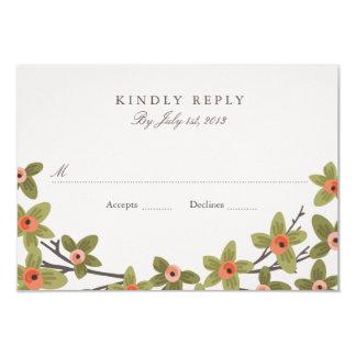 Frühling knospt Hochzeit UAWG 8,9 X 12,7 Cm Einladungskarte