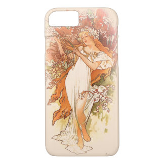 Frühling - Kunst Nouveau Alphonse Mucha iPhone 7 Hülle