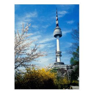 Frühling, Namsan Turm, Seoul, Südkorea Postkarte