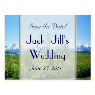 Frühling Tetons, das Save the Date WEDDING ist Postkarte