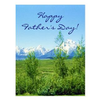 Frühling Tetons der Vatertag Postkarte