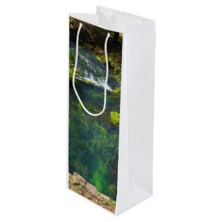 Frühling tief geschenktüte für weinflaschen