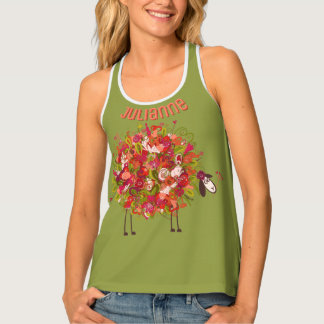 Spring And Summer Floral Sheep Personalized
