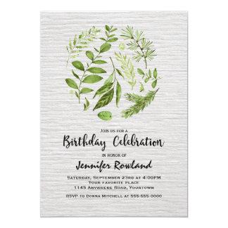 Frühling verlässt Geburtstags-Einladung Karte
