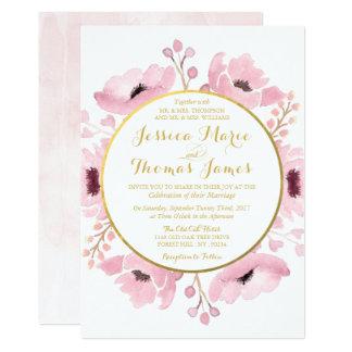 Frühling zackt Aquarell-Blumenhochzeits-Sammlung 12,7 X 17,8 Cm Einladungskarte