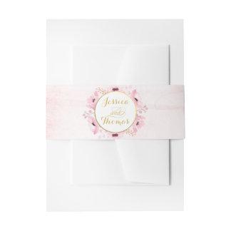 Frühling zackt Aquarell-Blumenhochzeits-Sammlung Einladungsbanderole