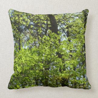 Frühlings-Ahorn verlässt grüne Natur Kissen