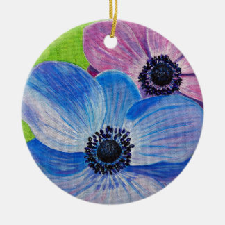 Frühlings-Anemonen Keramik Ornament