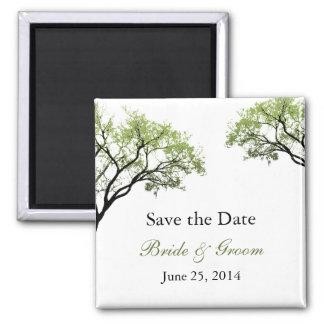 Frühlings-Baum-Save the Date Magnet Quadratischer Magnet