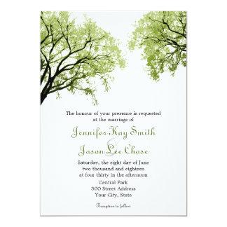 Frühlings-Bäume 2 - Hochzeits-Einladungen 12,7 X 17,8 Cm Einladungskarte