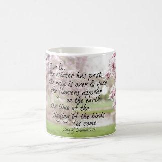 Frühlings-Bibel-Vers Kaffeetasse