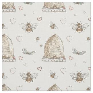 Frühlings-Bienen Stoff