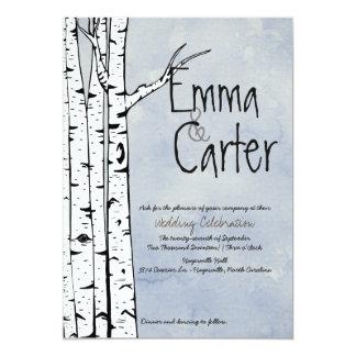 Frühlings-Birken-Baum-Hochzeits-Einladung 12,7 X 17,8 Cm Einladungskarte