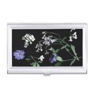Frühlings-Blumen auf schwarzem Visitenkarten Dose